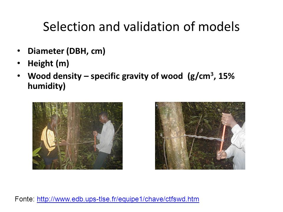 Selection and validation of models