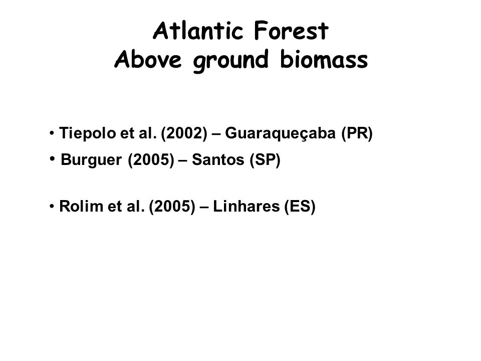Atlantic Forest Above ground biomass