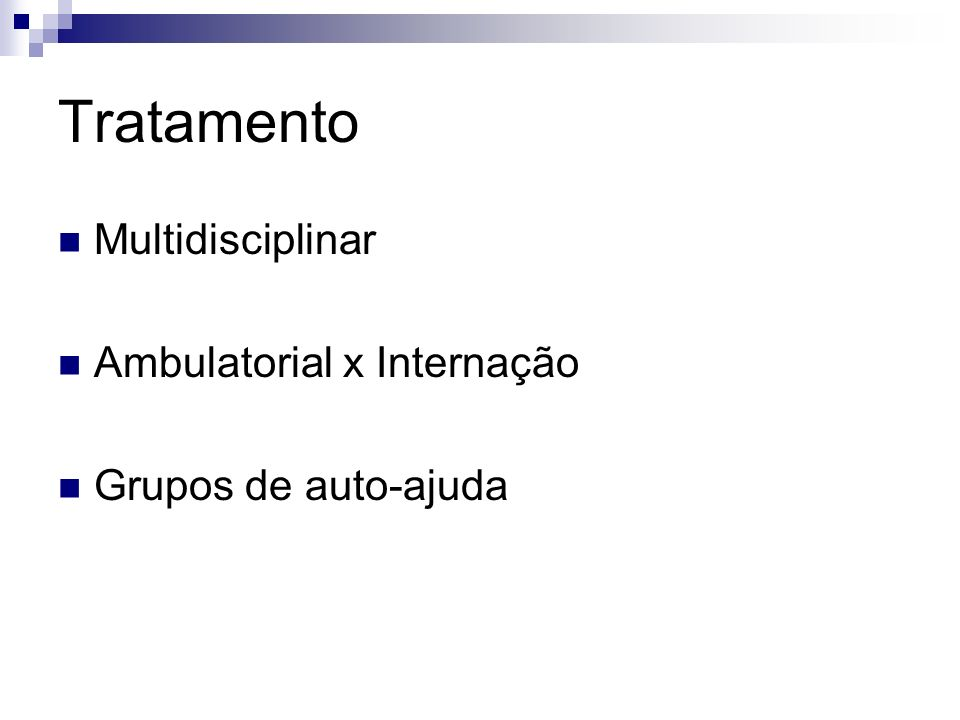 Tratamento Multidisciplinar Ambulatorial x Internação