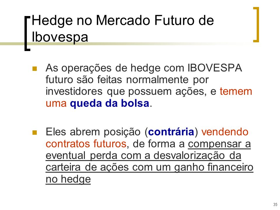 Hedge no Mercado Futuro de Ibovespa
