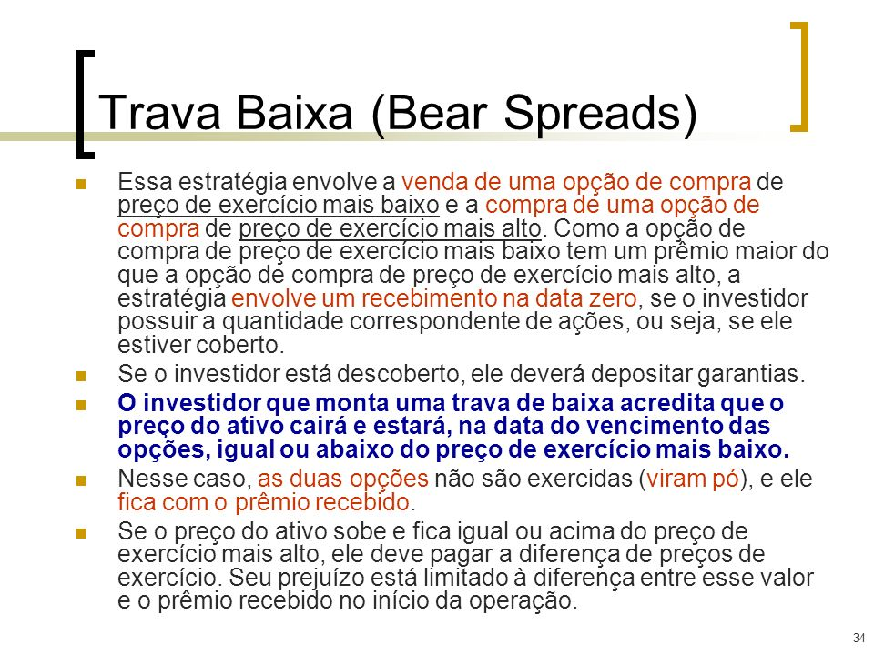 Trava Baixa (Bear Spreads)