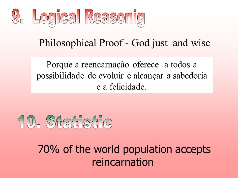 70% of the world population accepts reincarnation