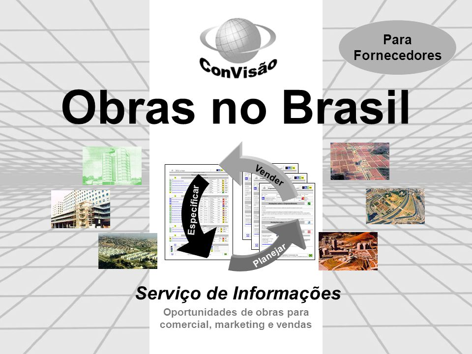 Oportunidades de obras para comercial, marketing e vendas