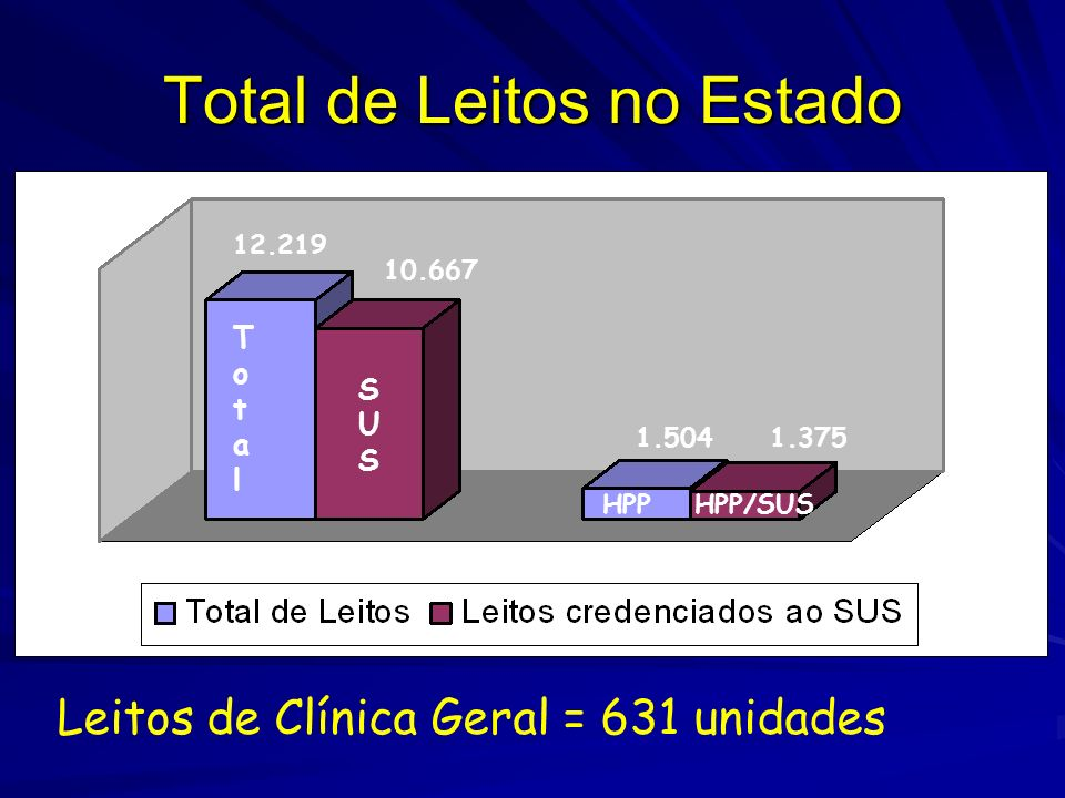 Total de Leitos no Estado