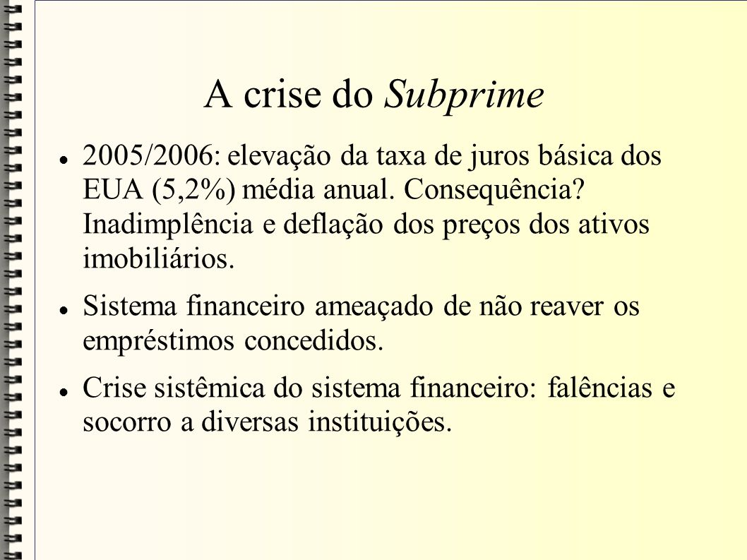 A crise do Subprime