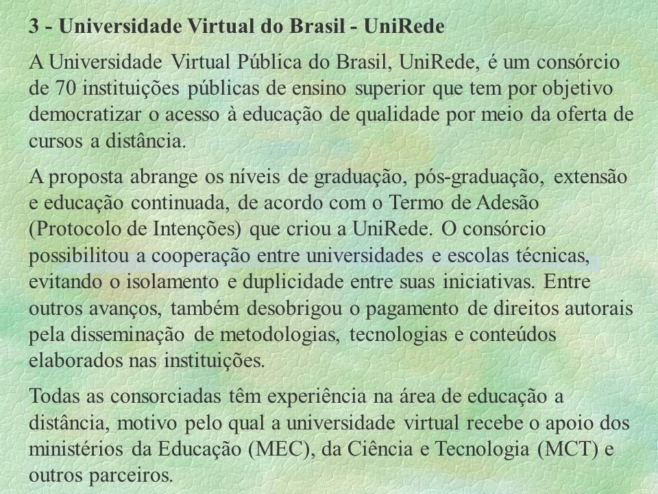 3 - Universidade Virtual do Brasil - UniRede