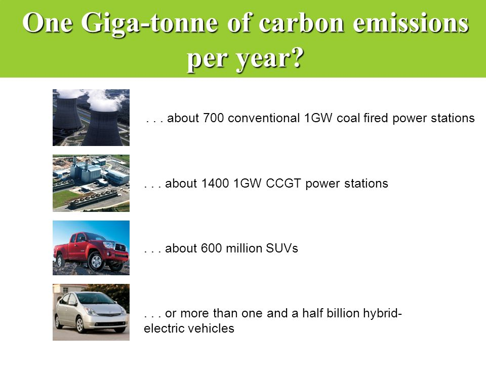 One Giga-tonne of carbon emissions per year