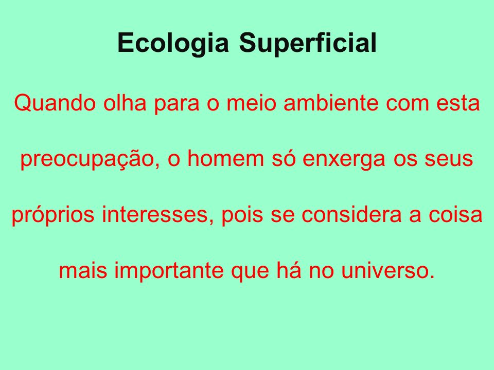Ecologia Superficial