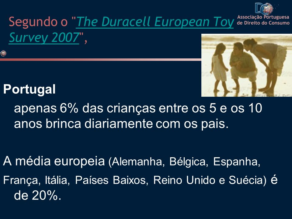 Segundo o The Duracell European Toy Survey 2007 ,