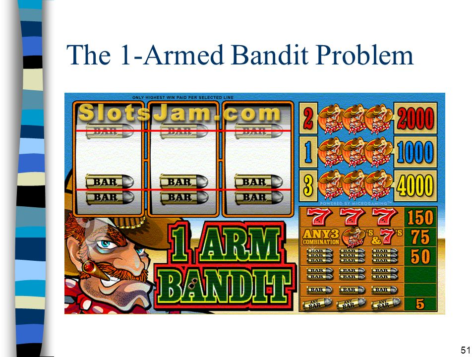 The 1-Armed Bandit Problem
