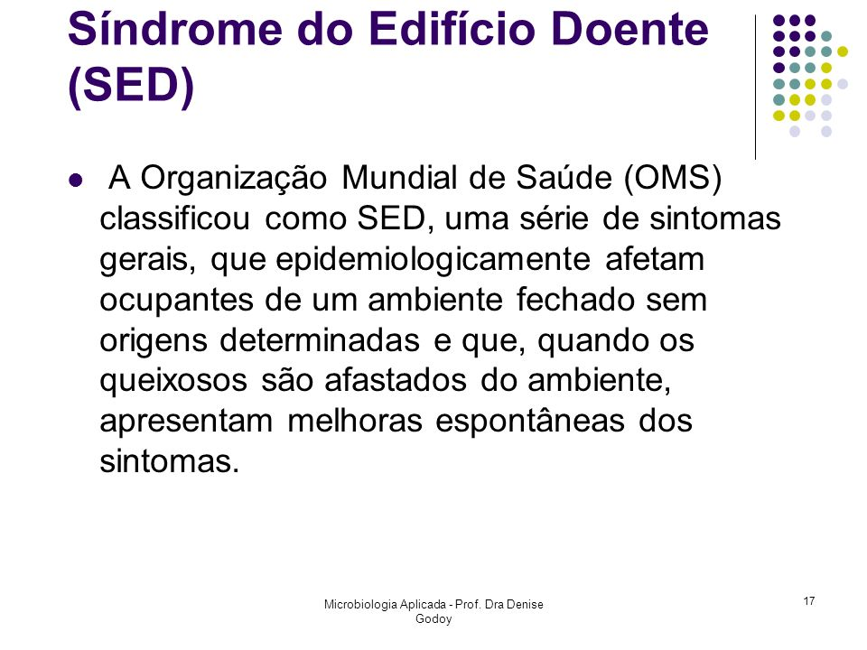 Síndrome do Edifício Doente (SED)