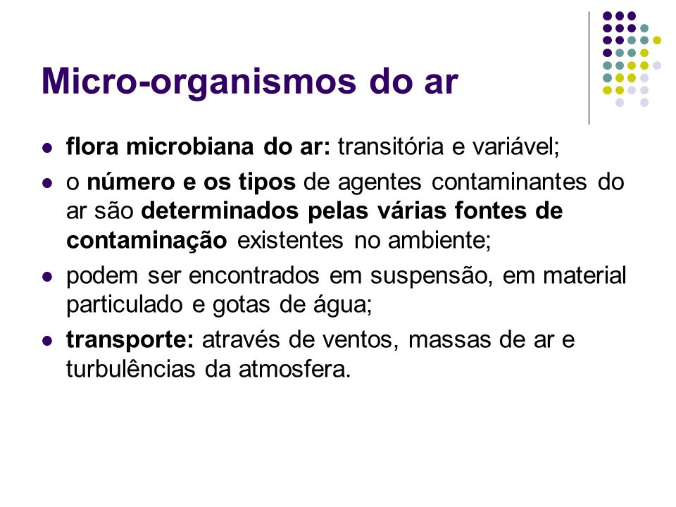 Micro-organismos do ar