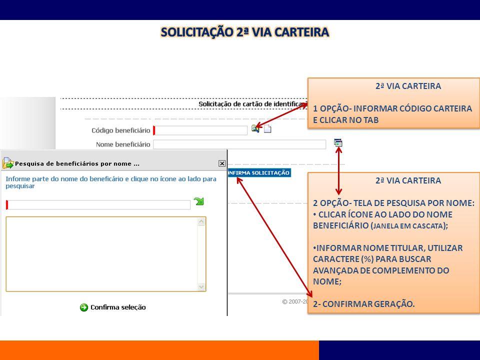 SOLICITAO 2 VIA CARTEIRA