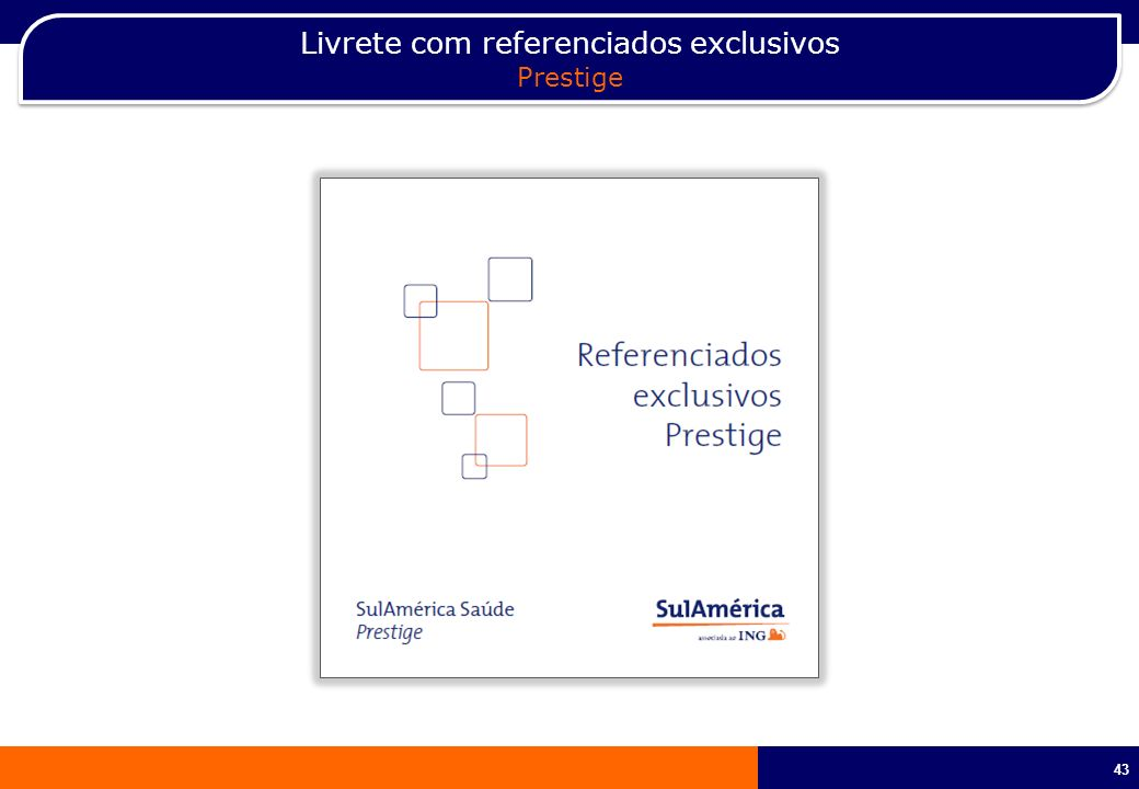 Livrete com referenciados exclusivos