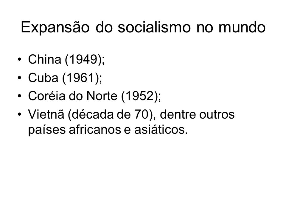 Expansão do socialismo no mundo