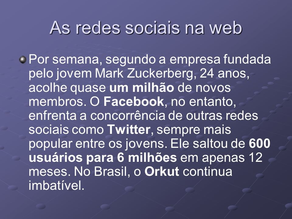 As redes sociais na web