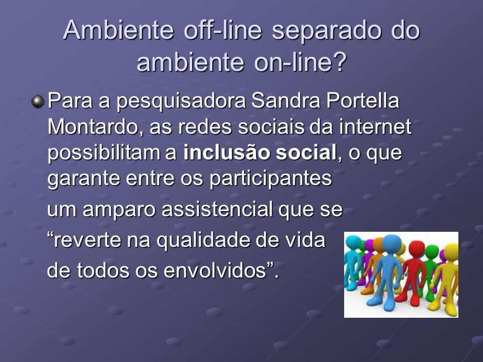 Ambiente off-line separado do ambiente on-line
