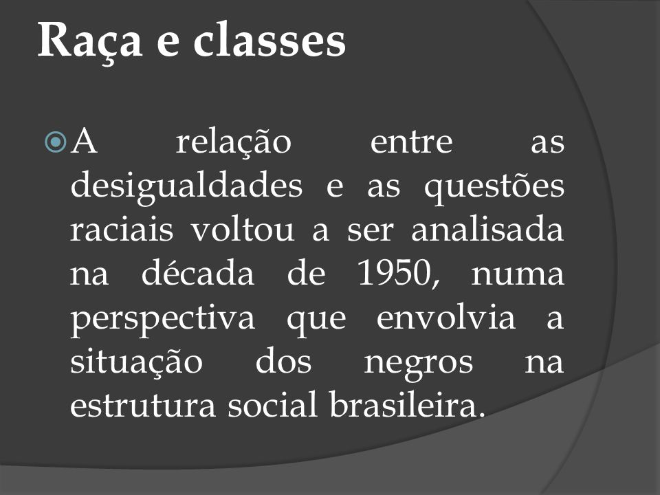 Raça e classes