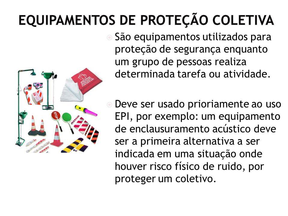 61 Equipamentos de Proteção Coletiva São equipamentos utilizados para  proteção de segurança enquanto um grupo de pessoas realiza determinada  tarefa ou ... c2a136a61b