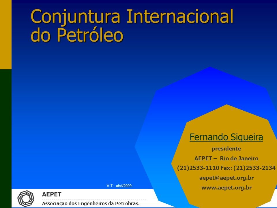 Conjuntura Internacional do Petróleo