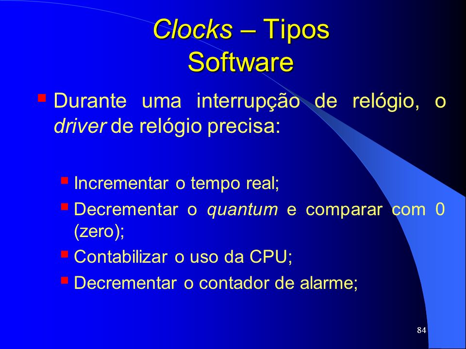 Clocks – Tipos Software