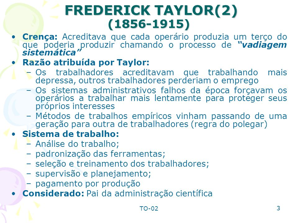 FREDERICK TAYLOR(2) ( )