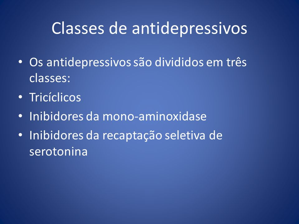 Classes de antidepressivos