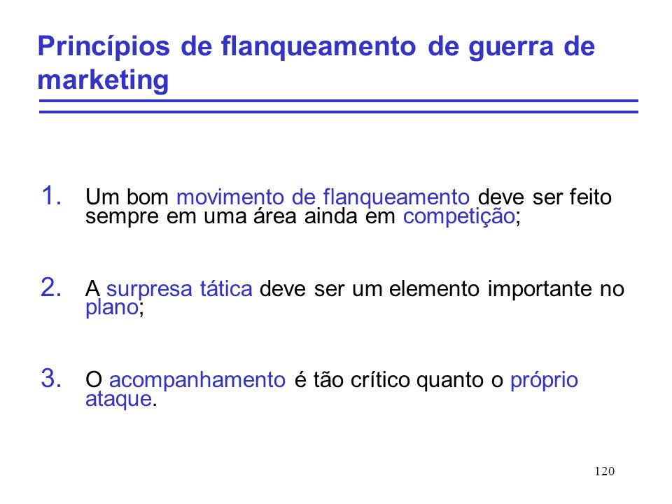 Princípios de flanqueamento de guerra de marketing