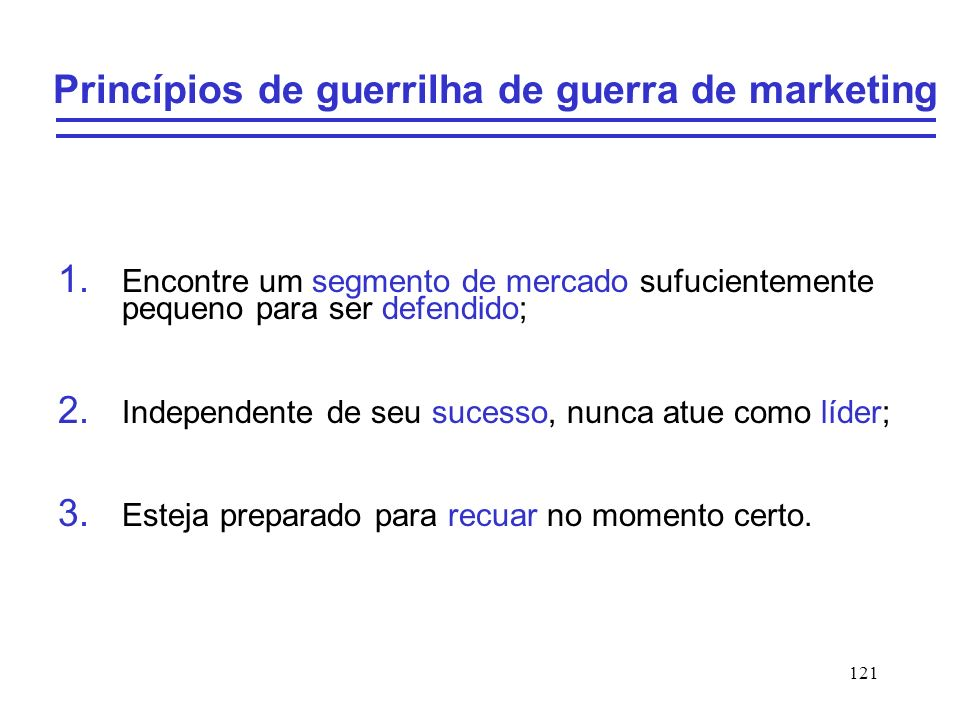 Princípios de guerrilha de guerra de marketing