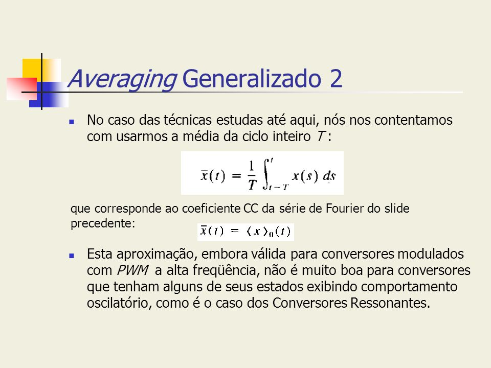 Averaging Generalizado 2
