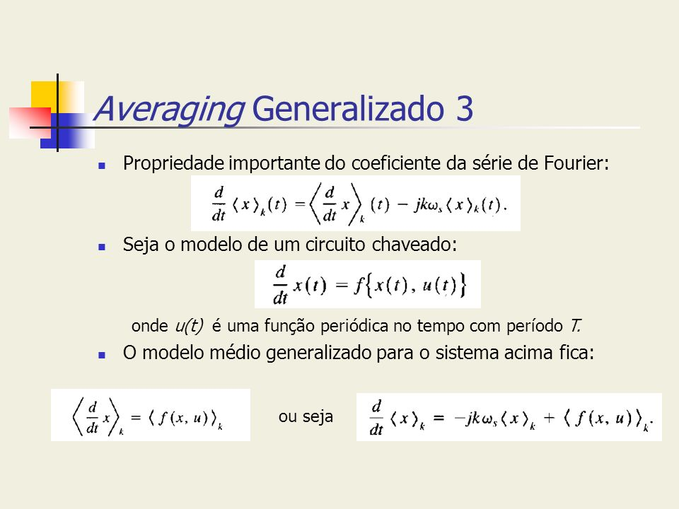 Averaging Generalizado 3