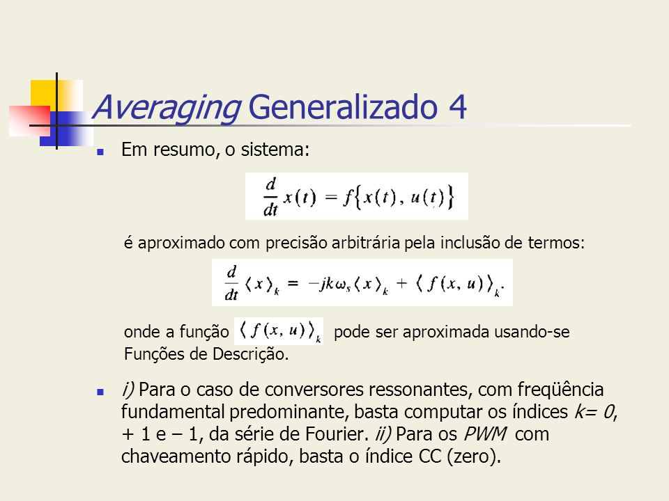Averaging Generalizado 4