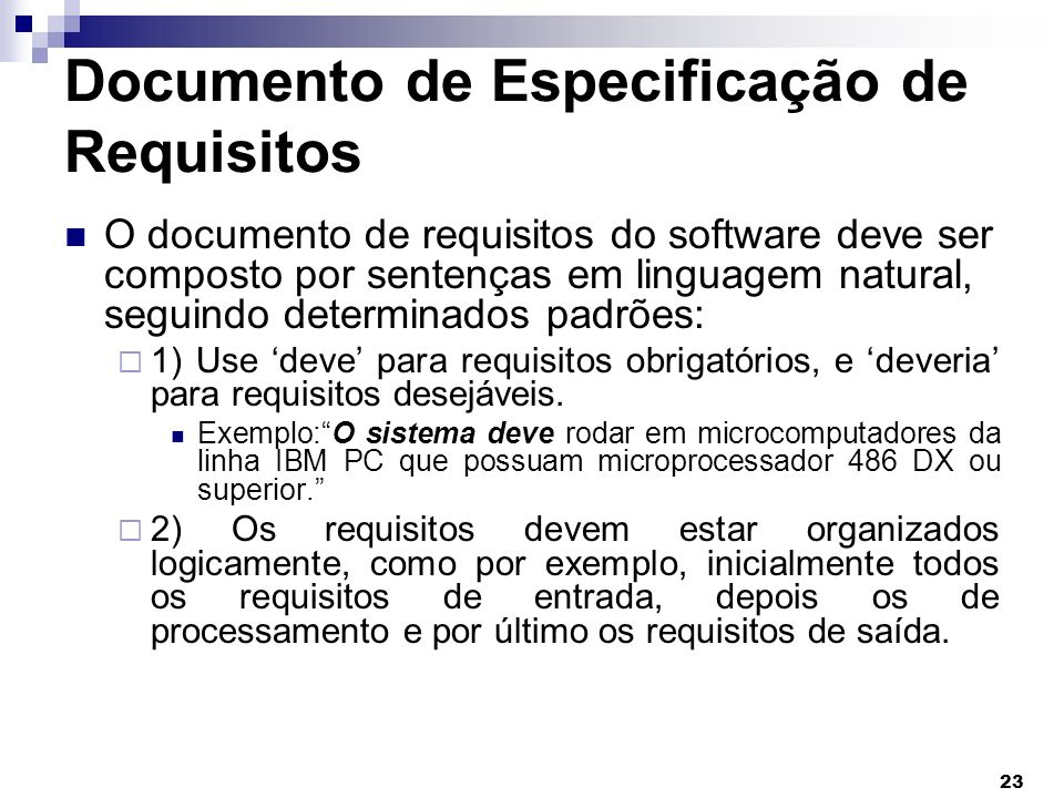 Documento de Especificação de Requisitos
