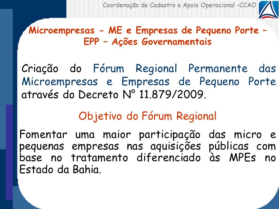 Objetivo do Fórum Regional