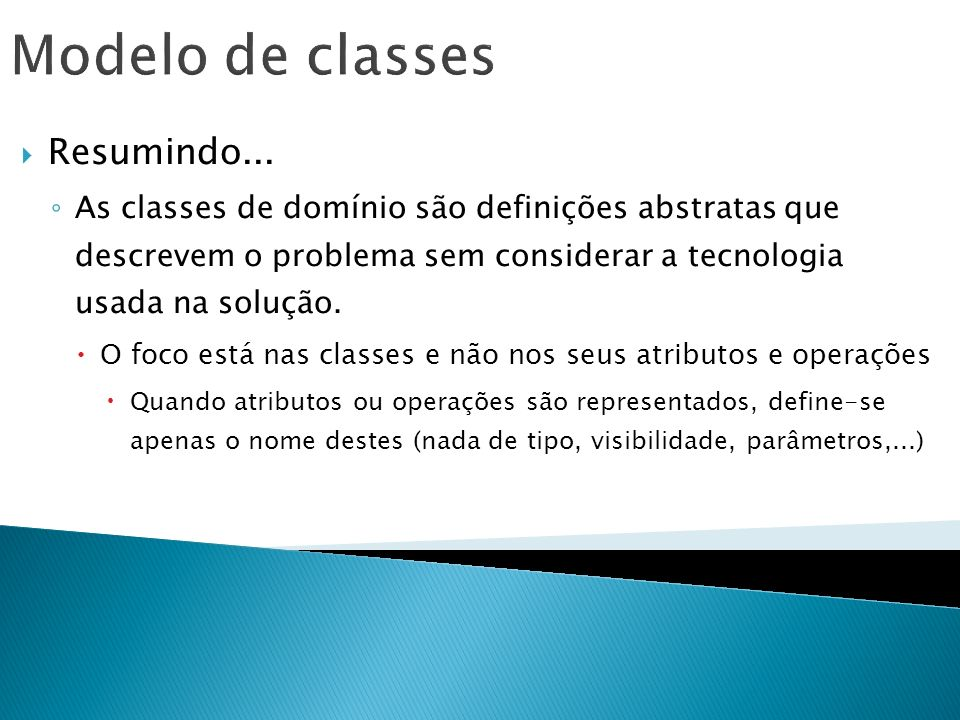 Modelo de classes Resumindo...