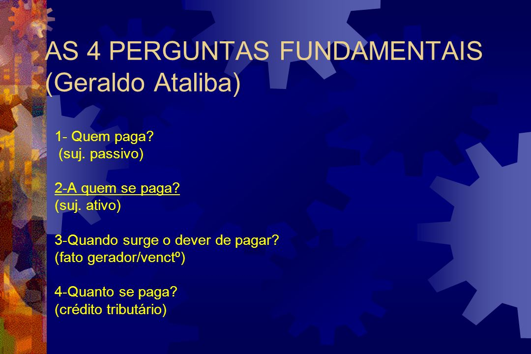 AS 4 PERGUNTAS FUNDAMENTAIS (Geraldo Ataliba)