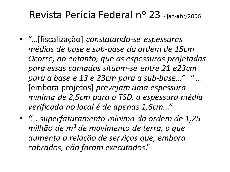 Revista Perícia Federal nº 23 - jan-abr/2006