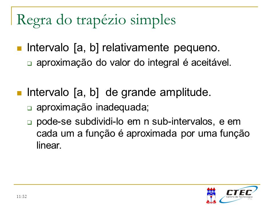 Regra do trapézio simples