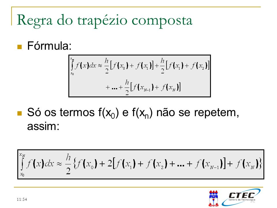 Regra do trapézio composta