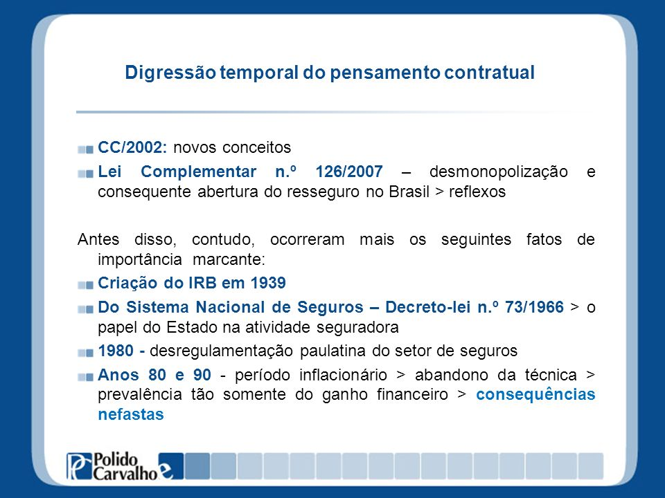 Digressão temporal do pensamento contratual
