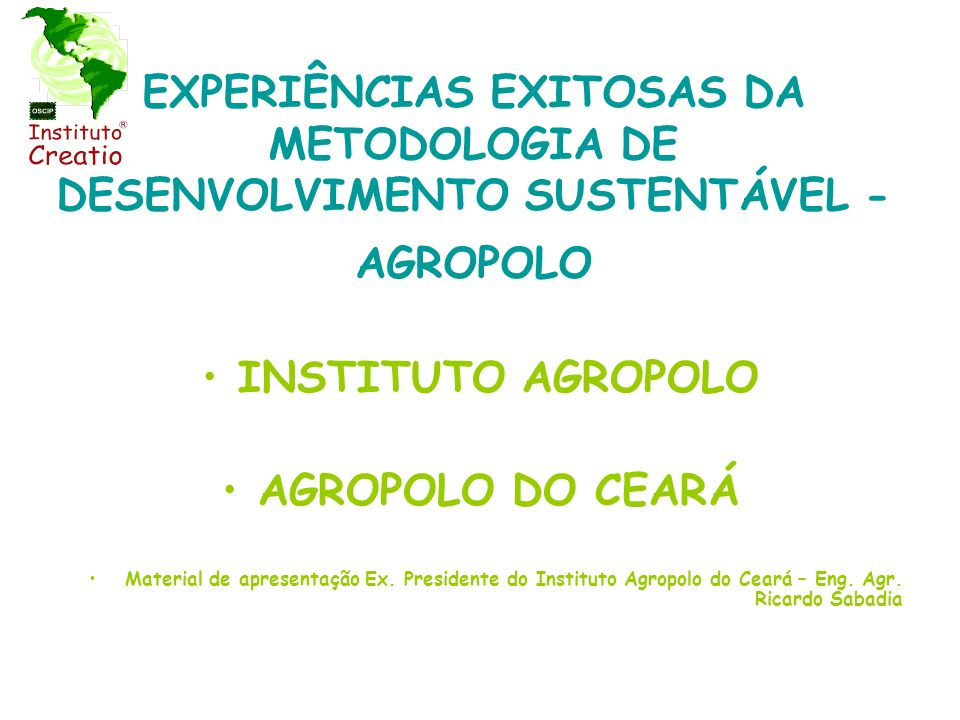 INSTITUTO AGROPOLO AGROPOLO DO CEARÁ