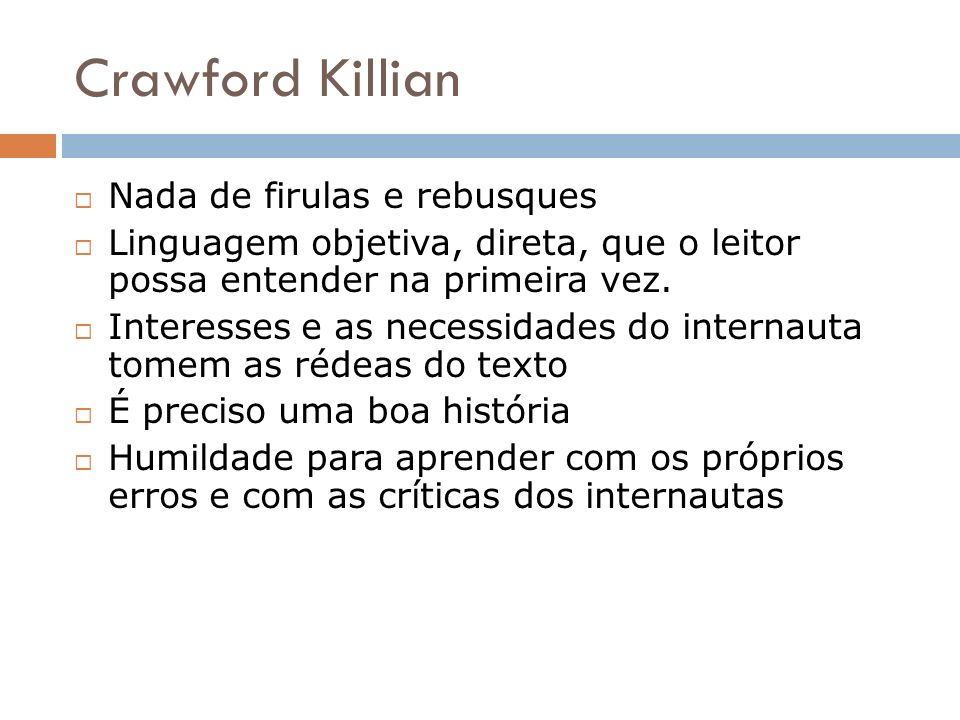Crawford Killian Nada de firulas e rebusques