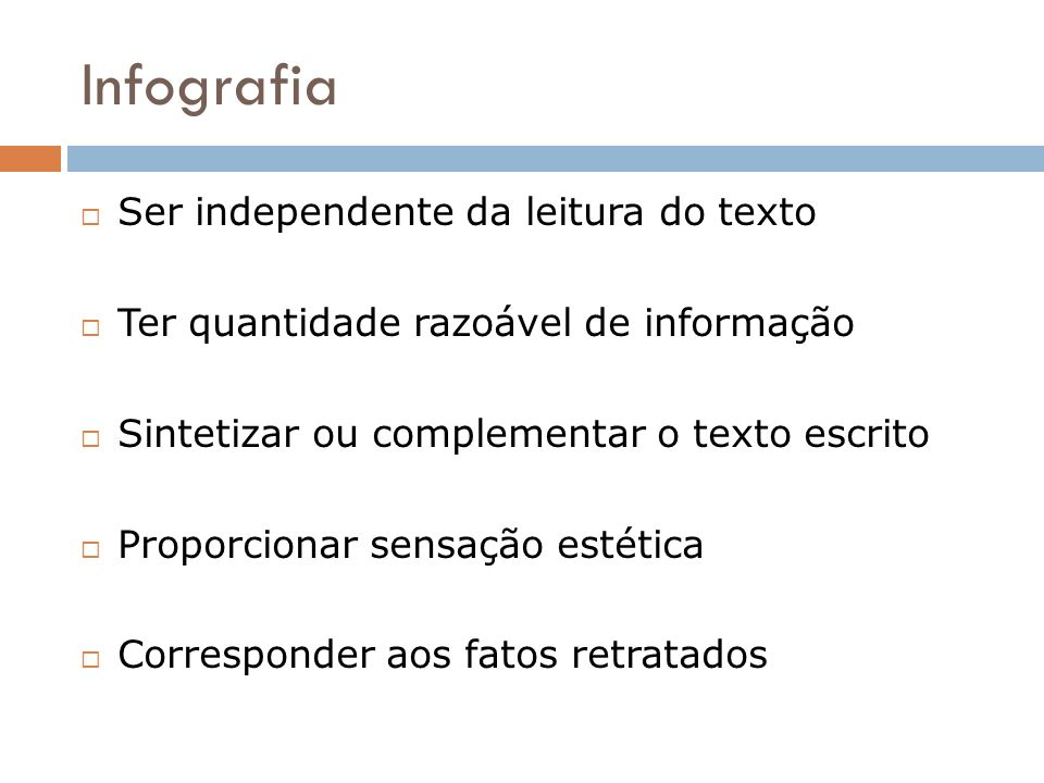 Infografia Ser independente da leitura do texto