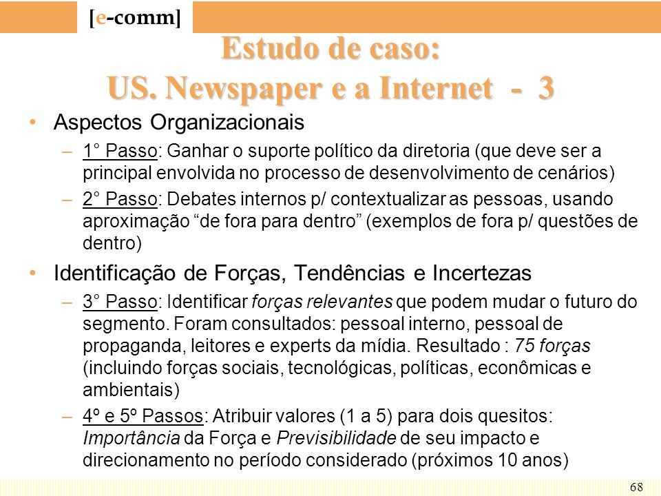 Estudo de caso: US. Newspaper e a Internet - 3