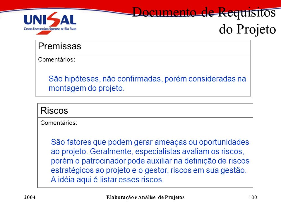 Documento de Requisitos do Projeto