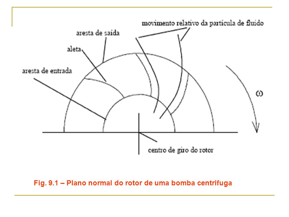Fig. 9.1 – Plano normal do rotor de uma bomba centrifuga