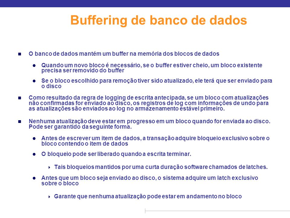 Buffering de banco de dados