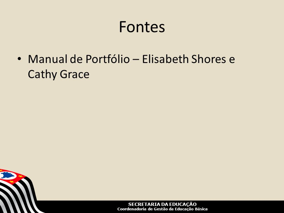 Fontes Manual de Portfólio – Elisabeth Shores e Cathy Grace