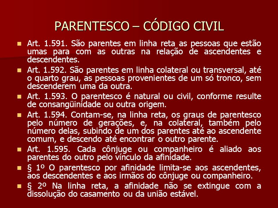 PARENTESCO – CÓDIGO CIVIL