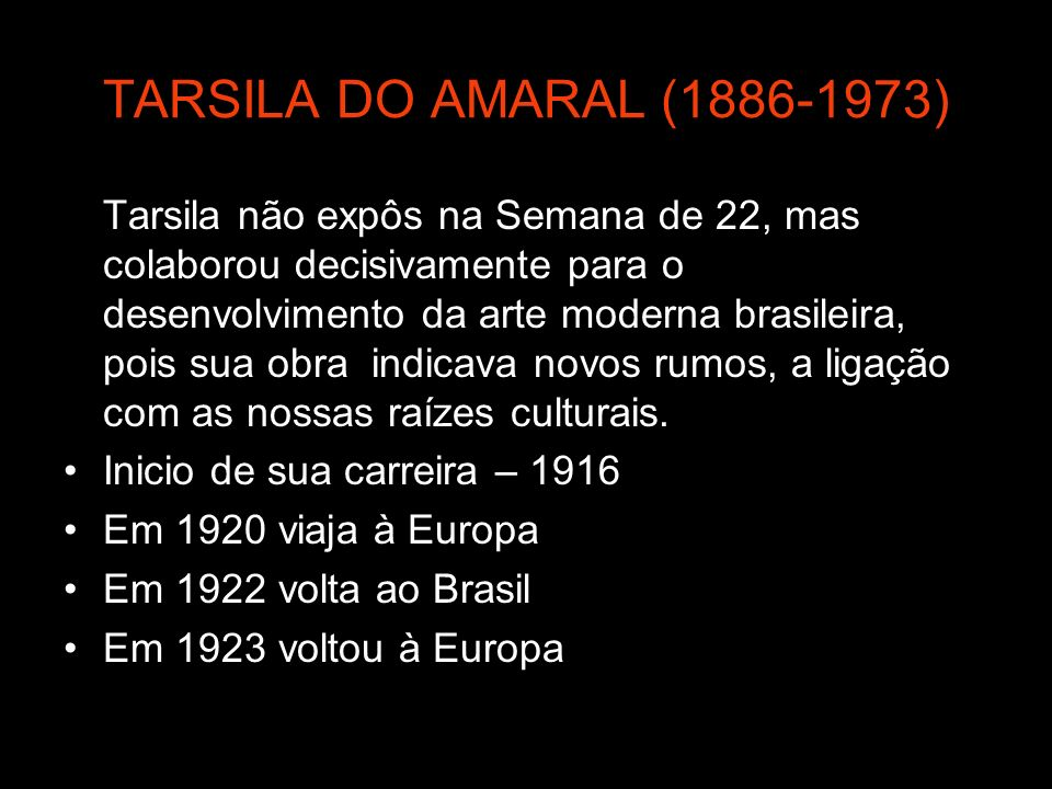 TARSILA DO AMARAL ( )
